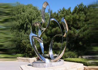 China Custom Size Stainless Steel Sculpture For City Decoration OEM / ODM Acceptable supplier