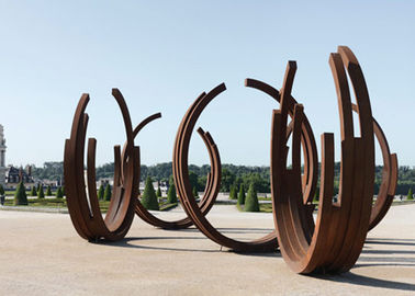 China Dancing Ribbons Appearance Corten Steel Sculpture For Outdoor Decoration  supplier