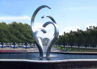 China Contemporary Stainless Steel Water Feature For Park Decoration Easy Install / Maintain supplier