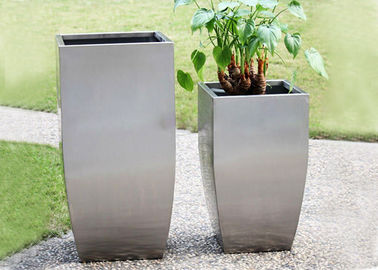 China Professional Stainless Steel Flower Planters Corrosion Stability 45-120 Cm supplier