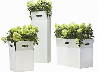 China Carton Type Stainless Steel Garden Planters , Large Outdoor Planters Stainless Steel supplier