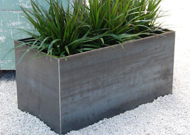 China 100cm Long Stainless Steel Rectangular Planter , Stainless Steel Flower Pots supplier