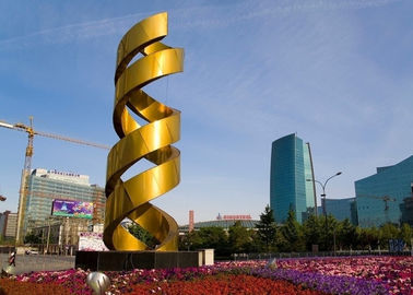 China Urban Decoration Painted Metal Sculpture DNA Shape Fashionable Design supplier
