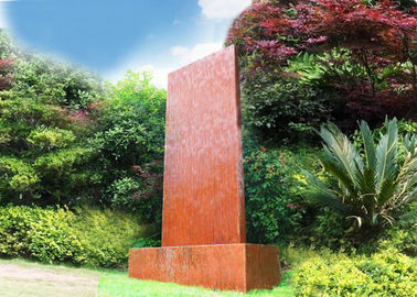 China Anti Corrosion Corten Steel Water Wall , Corten Steel Garden Features supplier