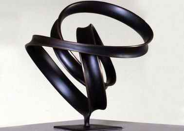 China Indoor Ribbon Bronze Lawn Statues , Abstract Bronze Sculptures WS-C038 supplier