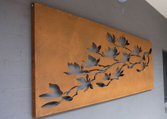 China Laser Cut Corten Steel Metal Wall Art Trees And Fence For Outdoor / Indoor supplier