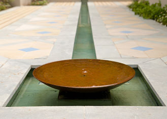 China Garden Decoration Large Bowl Water Feature / Corten Steel Water Bowl Garden Feature supplier