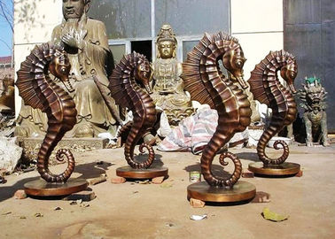 China Customized Size Bronze Statue For Garden Decoration Hippocampus Design supplier