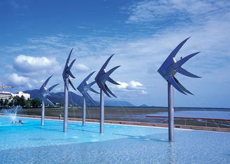 China Sea Fish Commercial Water Features , Swimming Pool Water Features Stainless Steel supplier
