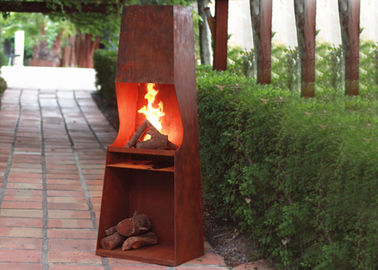 China Weather Resistant Corten Steel Fire Pit Rustproof OEM / ODM Available supplier