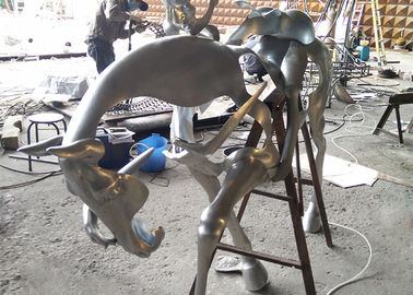 Spectacular Incomplete Horseman Outdoor Metal Sculpture Forging Technique