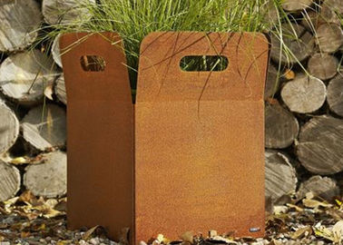 China Various Size Custom Corten Steel Planters For Yard / Garden Weather Resistant supplier