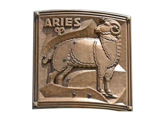China Contemporary Metal Aries Bronze Relief For Outdoor / Indoor Decoration supplier