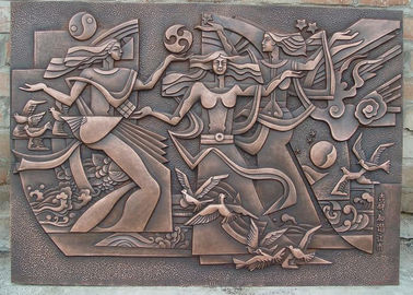 China Classical Style Wall Art Bronze Relief Casting Surface Finish Anti Corrosion supplier