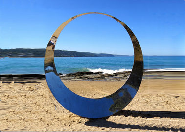 China Famous Outdoor Decoration Ring Sculpture Stainless Steel Modern Polished supplier