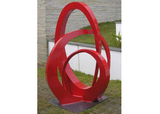 China Public Park Stainless Steel Sculpture Red Painted Abstract Metal Sculpture supplier