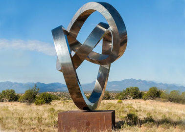 China Modern Outdoor Stainless Steel Sculpture Large Metal Yard Sculptures supplier