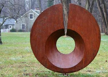 Rusty Monumental Corten Steel Sculpture , Abstract Metal Garden Sculptures