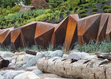 Customized Size Corten Steel Garden Sculpture , Metal Garden Art Outdoor  Decoration