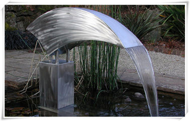 China Metal Fountain Stainless Steel Water Feature Outdoor Garden Pond Decoration supplier