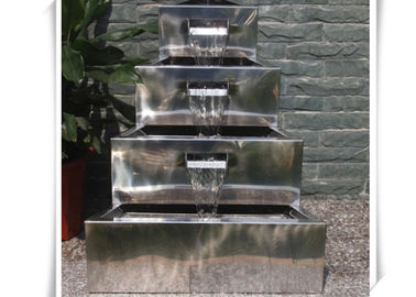 China Polished Craft Stainless Steel Water Feature / Metal Water Features Fountains supplier