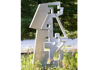 China Stainless Steel Painted Metal Sculpture , Metal Outdoor Sculpture Abstract supplier