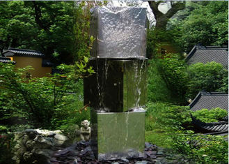 China Three Tubes Stainless Steel Water Feature Sculptures Modern Western Style supplier