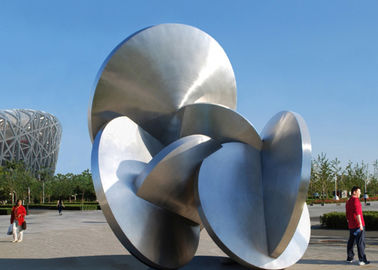 China Modern Decoration Large Outdoor Metal Sculptures All Stainless Steel 316L supplier