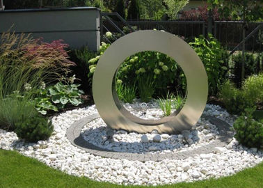 China Garden Design Ring Shape Stainless Steel Water Feature Fountain Corrosion Stability supplier