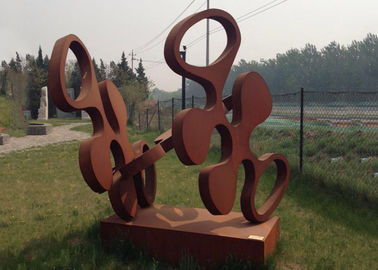 China Contemporary Design Art Corten Steel Sculpture Rusty Metal Garden Ornament supplier