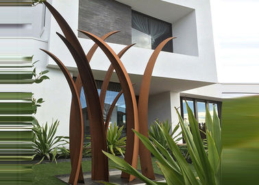 China Residential Garden Landscape Corten Steel Sculpture Reed Design Corrosion Stability supplier