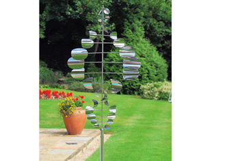 China Wind Kinetic Stainless Steel Outdoor Sculpture Large Garden Decorative supplier