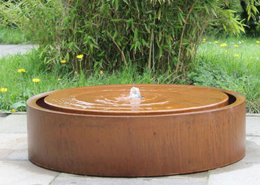 China Round Large Water Feature Contemporary Garden Decoration 150cm Dia Size supplier