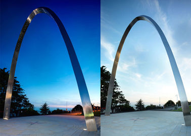 China Modern Outdoor Stainless Steel Sculpture Arch Sculpture For Urban Decoration supplier