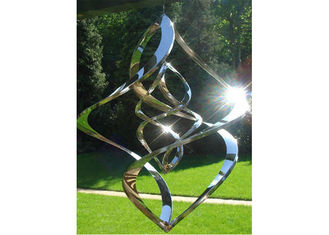 China Contemporary High Glossing Mirror Stainless Steel Sculpture Kenitic Wind Sculpture supplier