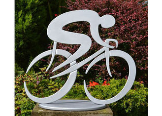 China Durable Art Cycling Large Garden Sculptures , Contemporary Garden Sculptures supplier