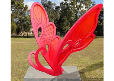 China Large Size Metal Butterfly Sculpture Stainless Steel For Garden Landscape supplier