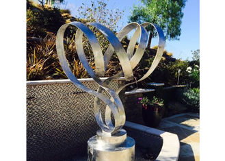 China Modern Outdoor Garden Stainless Steel Art Sculptures Matt Finish For Decor supplier