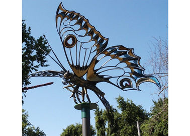 China Giant Garden Insect Outdoor Metal Sculpture Stainless Steel Butterfly For Landscape supplier
