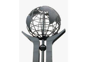 China Globe Matt Finish Modern Stainless Steel Sculpture Art Design For Square Decor supplier