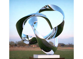 China Custom Size Mirror Polished Stainless Steel Sculpture Modern Art Sculpture supplier