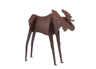 Metal Art Large Moose Statue Corten Steel Sculpture Garden Animal Sculpture