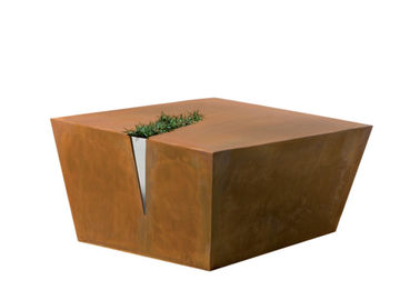 China Outside Rusty Coffee Table Metal Garden Sculptures Corten Steel Various Color supplier