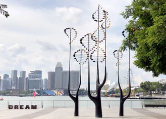 China Kinetic Art Stainless Steel Kinetic Wind Sculpture Outdoor Decoration supplier