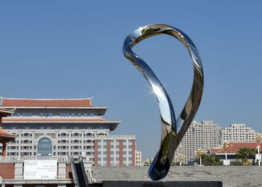China Custom Made Modern Stainless Steel Abstract Sculpture For Outdoor Art supplier
