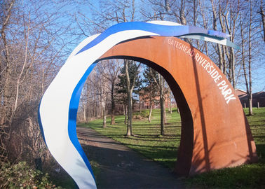 China Contemporary Park Decoration Outdoor Metal Corten Steel Arch supplier