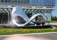 China Unique Design Polished Outdoor Metal Sculpture For City Square Decoration factory