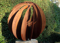 China Corten Steel Hollow Outdoor Metal Sphere Sculpture Various Size Available factory