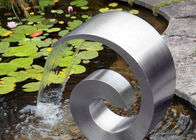 Good Quality Outdoor Metal Sculpture & Modern Style Stainless Steel Cascade Water Feature For Home Decoration on sale