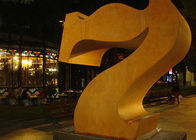 China Professional Number 7 Corten Steel Sculpture Without Base 180cm Height factory